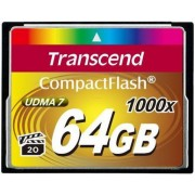 Card de memorie Transcend Compact Flash, 64GB, 1000x