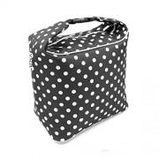 Polka Dot - Black White : 2017 NEW KOSOX Thermal Insulated Oxford Lunch Bag, Portable Printing Lunch Tote for Women,Original Design(Polka Dot - Black White)