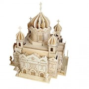 Smilelove 3 D Wooden Puzzle Cathedral Of Christ The Saviour Jigsaw Puzzle