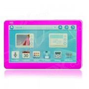 4.3'' HD Capacitive Touch Screen MP5 Player w/ Mic. / Speaker / TF / FM - Deep Pink + White (8GB)