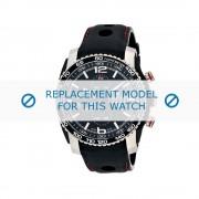 Tissot (vervangend model) horlogeband Analog - T079.427.26.057.00 Leder Zwart 22mm
