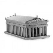 plastico libre del rompecabezas 3D DIY monta modelo atenas juguete templo - plata