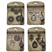 Blue Moon Beads Orient Express Bag Pendants 4-Pack