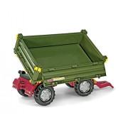Rolly Toys Schneider 12 500 5 - Remolque (2 ejes, volquete a 3 lados, 88 cm), color verde