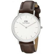 Daniel Wellington 0611DW - Reloj con correa de piel para mujer, color blanco / gris