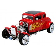 MotorMax - 73172r_flames / 79 993 - Ford - Hot Rod Coupe - 1932 - 1/18 Scala