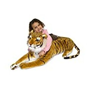 Melissa & Doug Giant Tiger - Lifelike Stuffed Animal (over 1 meter long)