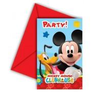 Disney Mickey party meghívó (6 db-os)