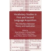 Vocabulary Studies in First and Second Language Acquisition by Brian Richards