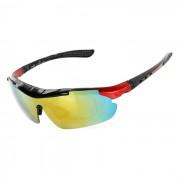 CTSmart PC gafas de sol polarizadas w / Lentes de repuesto Set - Rojo