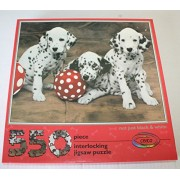 Not Just Black and White Dalmatian Puppies Interlocking Jigsaw Puzzle 550 Piece