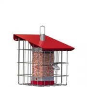 The Nuttery Geohaus Compact Nut Feeder - Berry Red