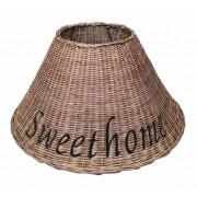 Rieten Lampenkap Bruin - Sweet Home