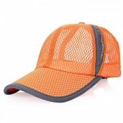 Hombres al aire libre y las mujeres Sun Shade beisbol neto de algodon Hat - naranja