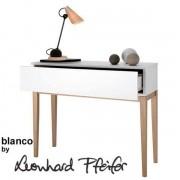 La Console design BLANCO, pieds et structure en chêne massif, bois peint blanc mat- éco, déco et design