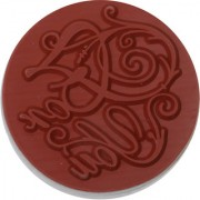 Magideal DIY Creative Vintage Round Wooden Seal Rubber Stamp(For You)