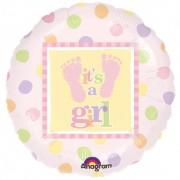 """Balon folie 45cm """"It's a Girl"""", Amscan 111057-01"""