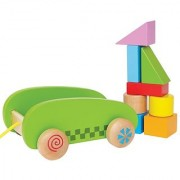 Hape - Mini Block and Roll Wooden Push and Pull Toy