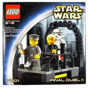 Lego Year 2002 Star Wars Series Movie Scene Set # 7201 - FINAL DUEL II with Walkway on the Second Death Star Plus Luke Skywalker as Jedi Knight Imperial Officer and Stormtrooper Minifigures (Total Pieces: 23)