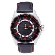 Fastrack Quartz Black Round Men Watch 3021SL03