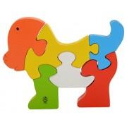 Skillofun Wooden Take Apart Puzzle Doggie, Multi Color