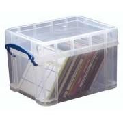 Really Useful Boxes Boîtier De Rangement Pr Cd/Dvd Pour 18 Cd Ou 10 Dvd, Transparent, Ft Extérieur 245 X 1 Unité(S)
