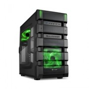 Sharkoon BD28 Midi ATX PC Case Tower 2xUSB 2.0
