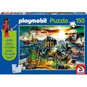 Schmidt - Playmobil Puzzle per Bambini, Tematica: L'Isola dei Pirati