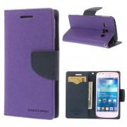 Korean Mercury Fancy Diary Wallet Case for Samsung Galaxy Trend Plus Purple