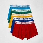 River Island Mens Red multi colouRed hipster boxers multipack