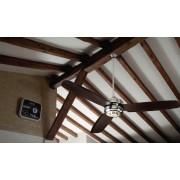 Ventilador techo cromo palas wengue