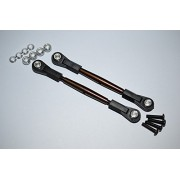 Spring Steel 4mm Thread Tie Rod With 6.8mm Ball Plastic Ends (To Extend 80mm-85mm) - 1Pr Set