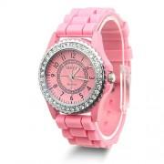 silikonové hodinky geneva Barva:: Růžová