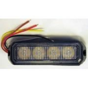 Flash stroboscopic cu 4 LED-uri Galbene - alimentare 12-24V 15 tipuri de flash