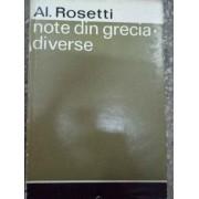 Note Din Grecia Diverse - Al. Rosetti