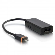 C2G 80934 USB Micro-B HDMI A Black video cable adapter