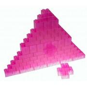 Premium Big Briks Clear Magenta Basic Builder Set #1 - 84 Pack - (Big LEGO DUPLO Compatible) - Large Pegs
