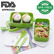 Varmora Twin Flat Lunch Box 2-Rectangle Boxes 450ml
