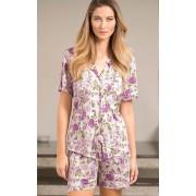 Pijama Feminino Mixte Adulto Cardigan com short Milena Floral