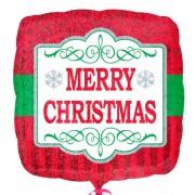 Balon folie 45 cm Craciun Merry Christmas