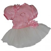 """18"""" Doll Clothing Elegant Pink Petal Tutu Dance Dress, Fits American Girl?Doll Clothes & Accessories by The Queen's Treasures"""