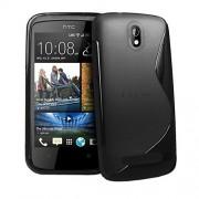 Wellmart Rubber Back Cover For HTC Desire 500