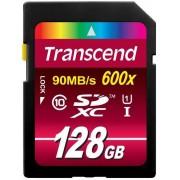 Card de memorie Transcend TS128GSDXC10U1, SDXC, 128GB, Clasa10, UHS-I, 600x