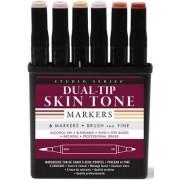 Studio Series Dual Tip Alcohol Marker Set - Skin Tones (6 Markers) by Inc Peter Pauper Press