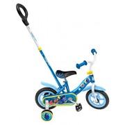 """Stamp-Fd199033-Bicicletta, 10 """", con asta direzionale Dory-Cornice in acciaio-Sella con design stampato, motivo: cerchi, in Nylon, colori pastello, pneumatici Eva-Stabilizzatori"""