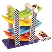 Njoykids Two Lanes Racing Tower Toy
