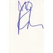 Rebecca Romijn Autographed Index Card