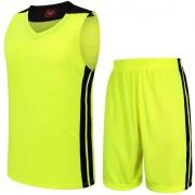 Баскетболен екип потник с шорти - неоново зелен с черно