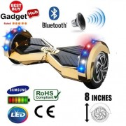 8″ Gold Chrome Bluetooth Segway Hoverboard + FREE Carry Case