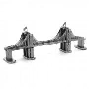 modelo de juguete de plastico libre del rompecabezas 3D DIY montado el puente de Brooklyn -plata